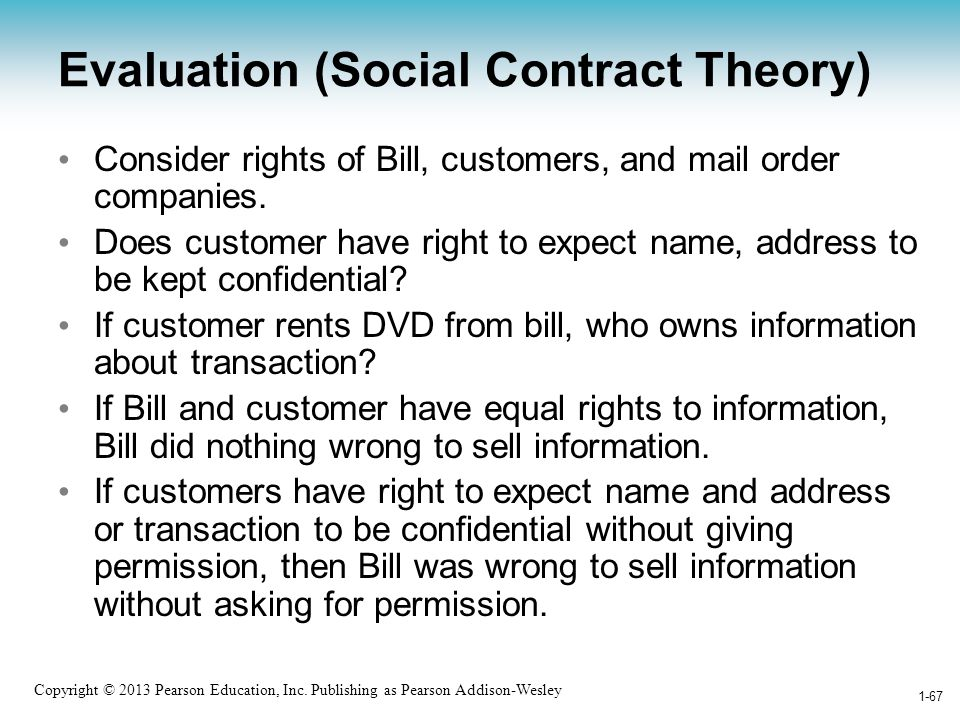 Evaluation (Social Contract Theory)