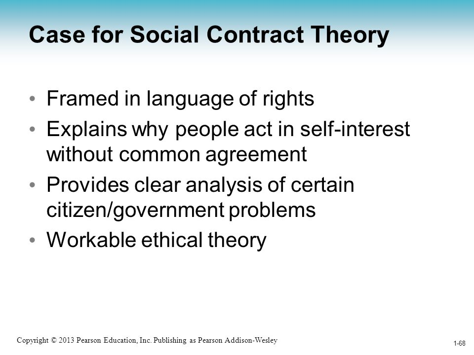 Case for Social Contract Theory