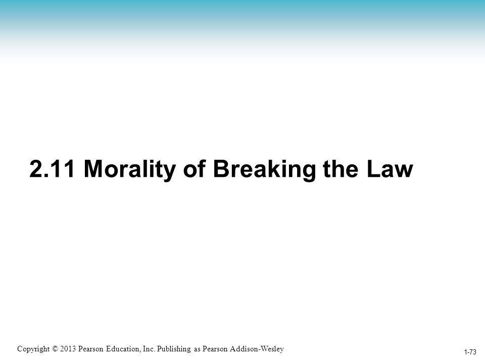 2.11 Morality of Breaking the Law