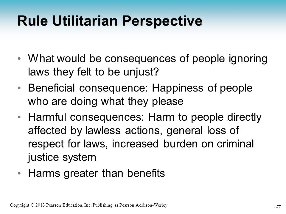 Rule Utilitarian Perspective