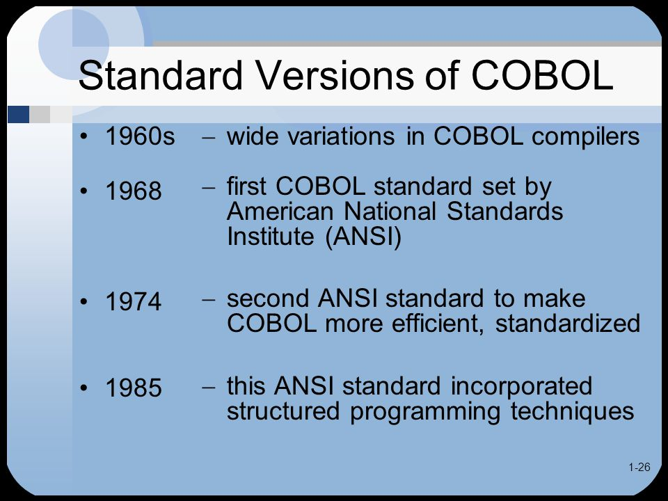 Cobol for the 21st century ppt video online download Ansi c compiler online