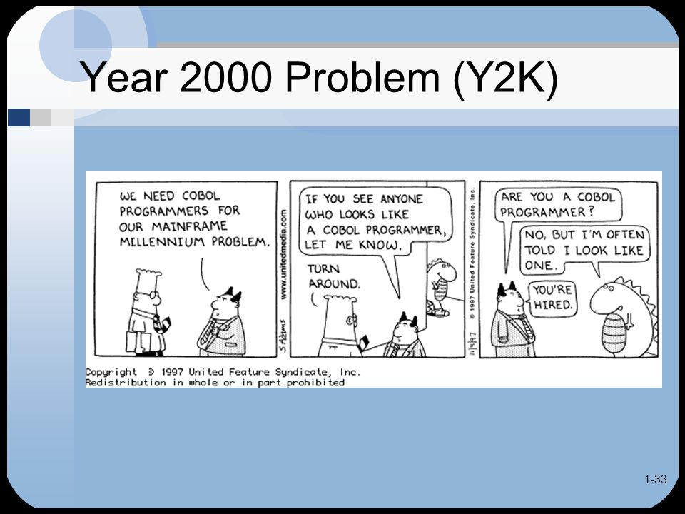understanding the y2k bug Many people thought the world was going to end in 2000 because of the y2k bug we now understand this problem better and we are ready to get prepared for the.