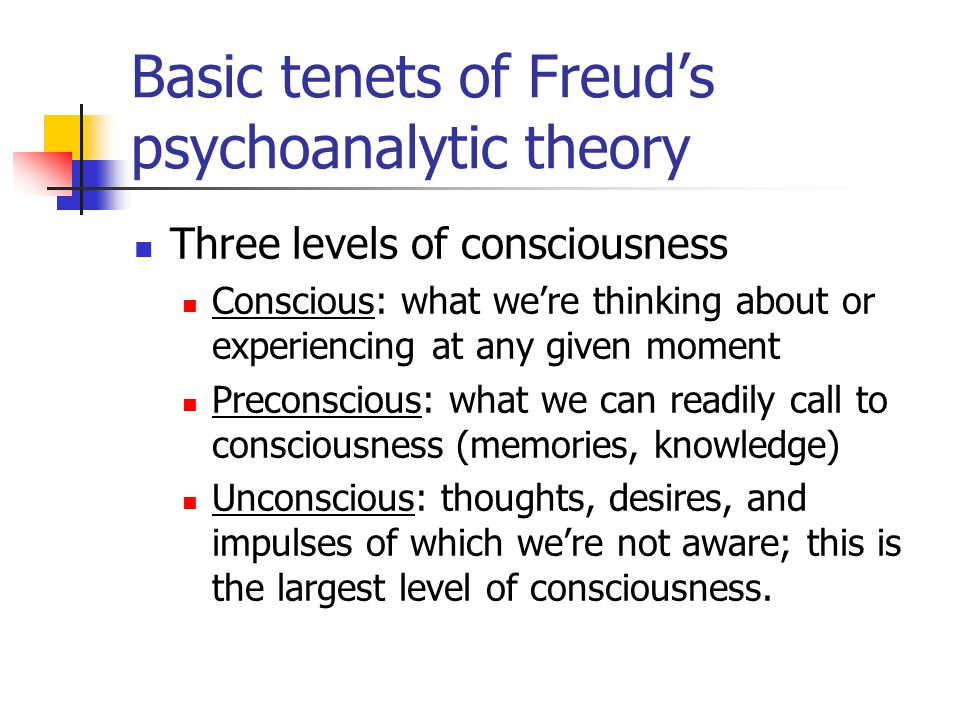 Psychoanalytic Theory & Approaches