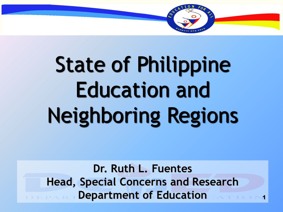 the state of philippine education a Education in the philippines: secondary education although secondary education is not compulsory in the philippines, it is widely attended, particularly in the more urban areas of the country at this level, private schools enroll a much higher percentage of students than at the elementary level.