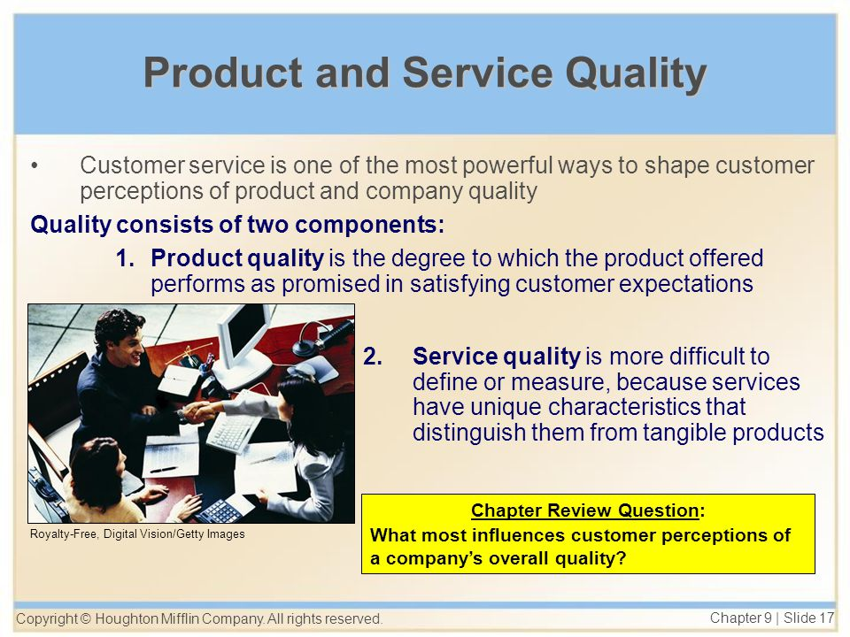 influences of service quality on customer The influence of customer oriented behavior on quality service  organization as it affects customer satisfaction, influences the purchasing behavior and,.