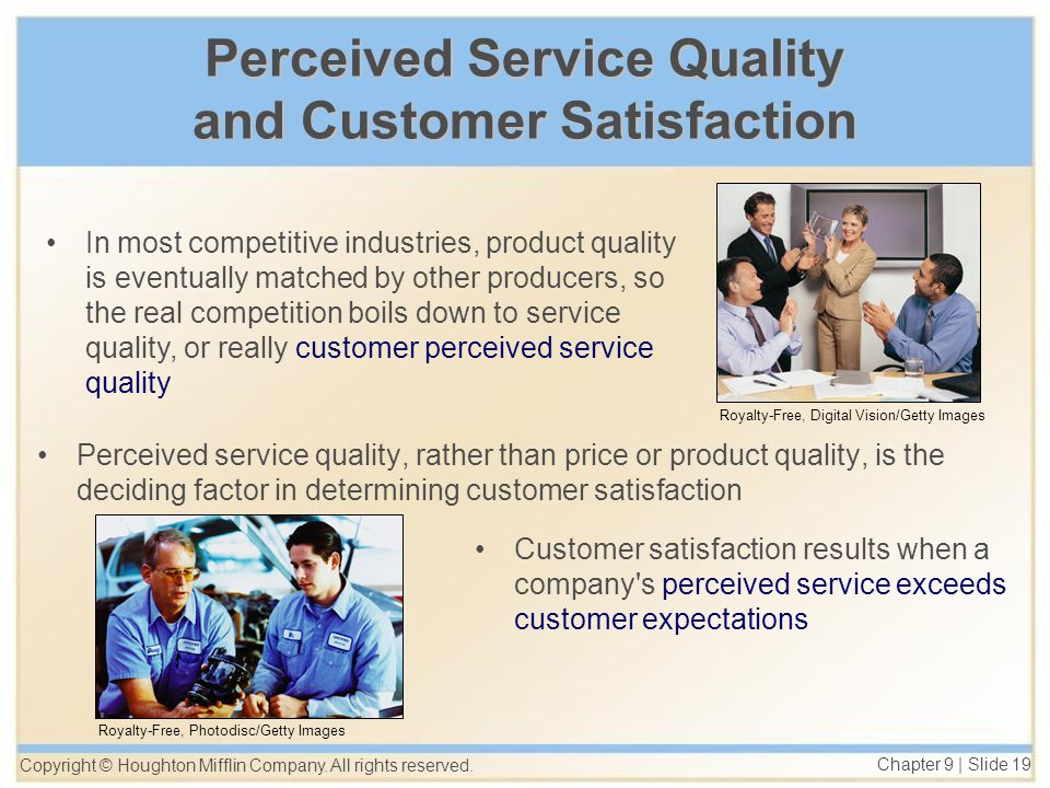 the relationship between service quality and Abstract relationship between product quality and customer satisfaction in the us automobile industry by albert v cruz mba, john f kennedy university, california, 1985.