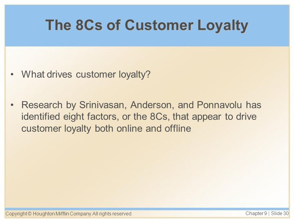drivers of customer loyalty and firm profitability research Customer loyalty generates sales and referrals companies with superior levels of customer loyalty and retention have the highest profit and growth rates.