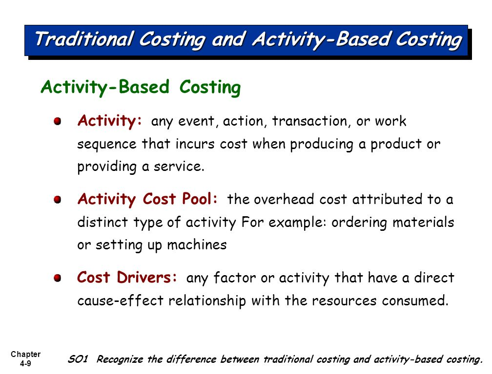 activity based costing essay example Topic: activity based costing paper type: essay   for example, the application of  activity based costing which has become popular among the company's managers.