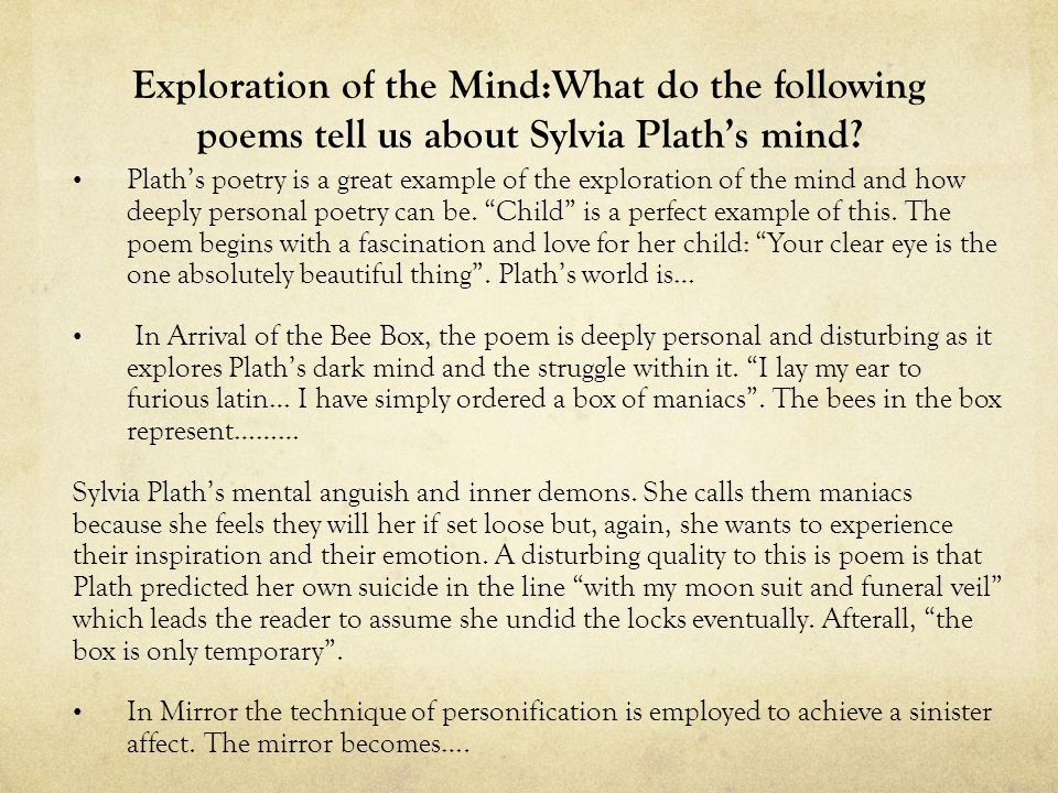 Mirror by Sylvia Plath Who is the narrator of this poem    ppt     cutopek   Sample Essays For High School Depression Research Paper       Remember