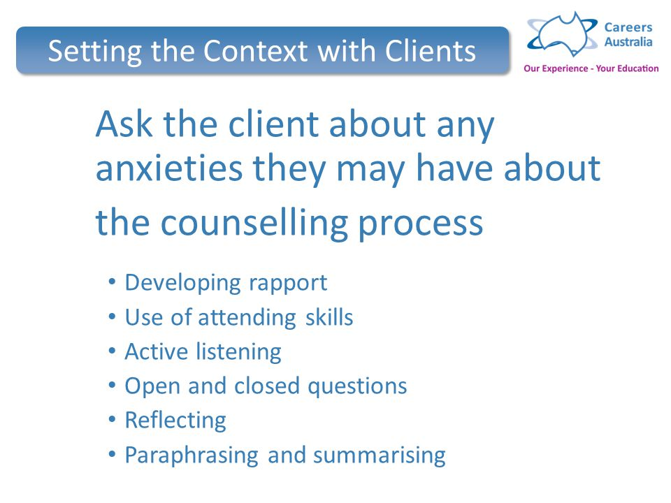 counselling learning and active listening • counselling skills practice learning outcomes and summary of objectives upon successful completion of this • describe what is meant by active listening.