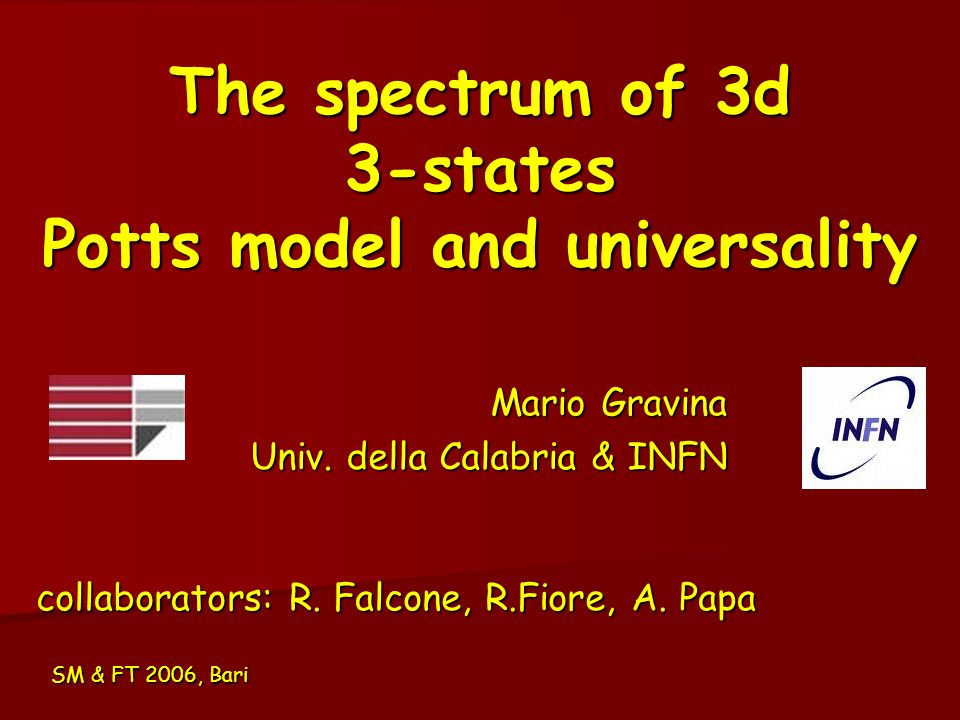 The spectrum of 3d 3-states Potts model and universality