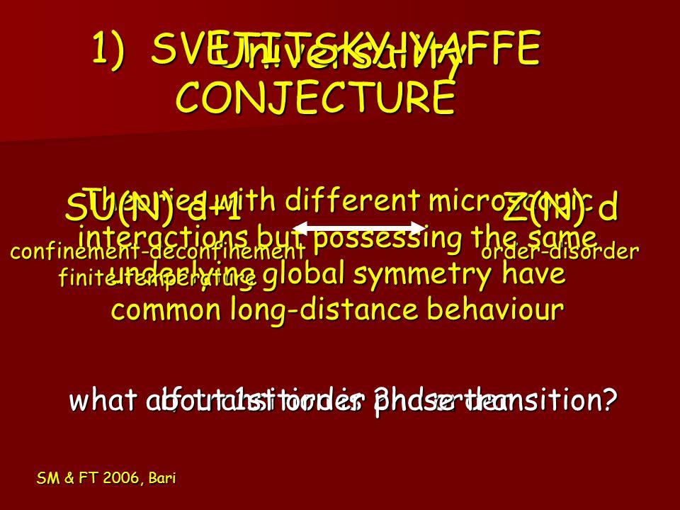 1) SVETITSKY-YAFFE CONJECTURE