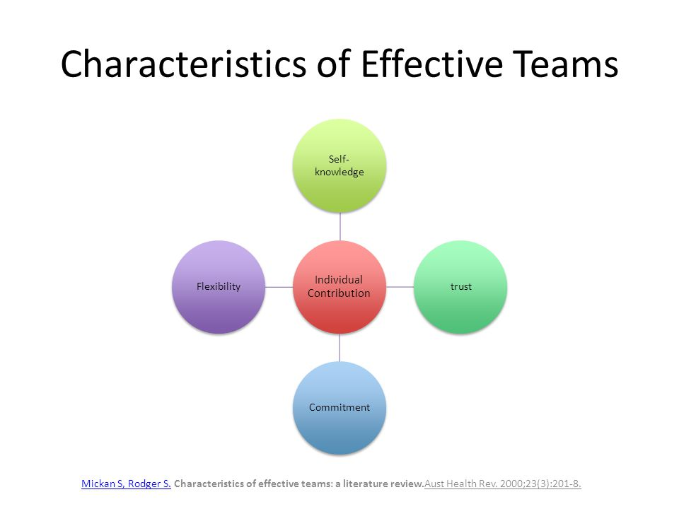 effective teams essay The performance of a team improves when members' individual personalities are  diverse, even though it takes longer for such psychologically diverse teams to.