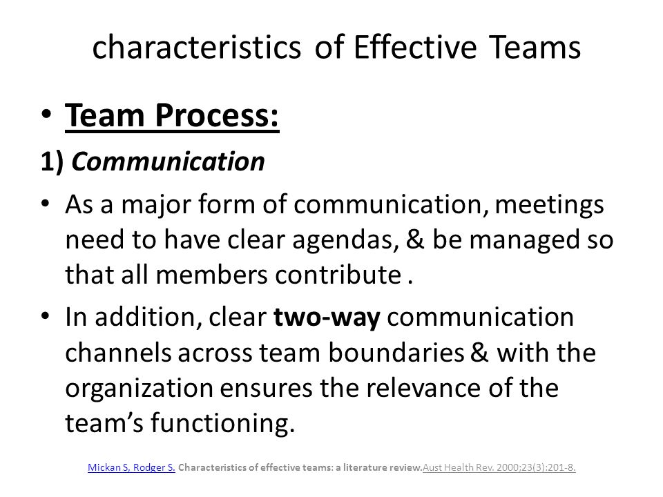 characteristics of an effective team Effective goals should be smar from images what the best.