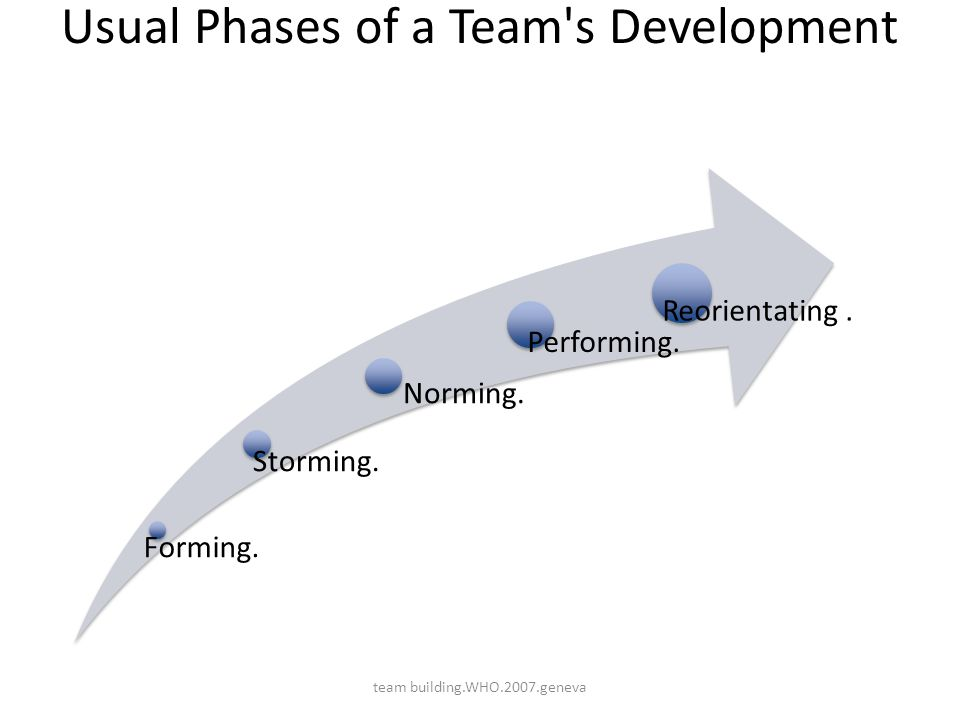Usual Phases of a Team s Development