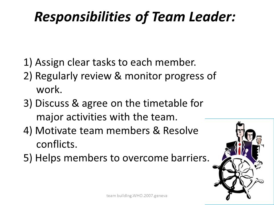 responsibilities of the construction team Roles and responsibilities for project teams  responsibilities as a project team member may  construction and furniture inspections are conducted by the.