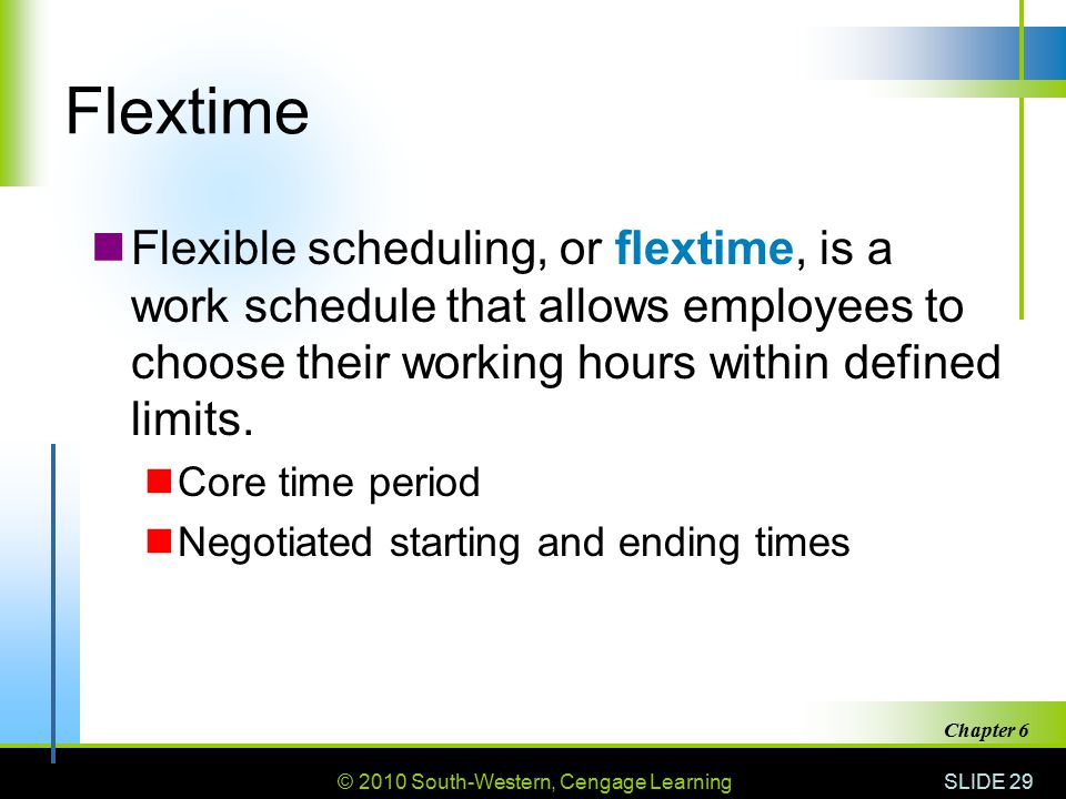 How to Work a Flextime Schedule