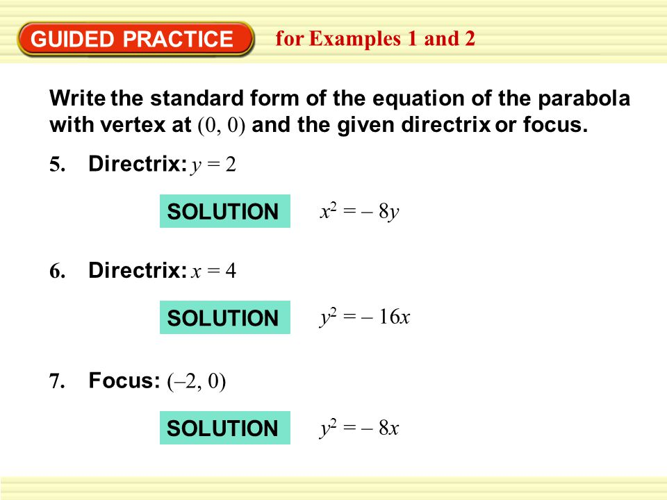 GUIDED PRACTICE for Examples 1 and 2.