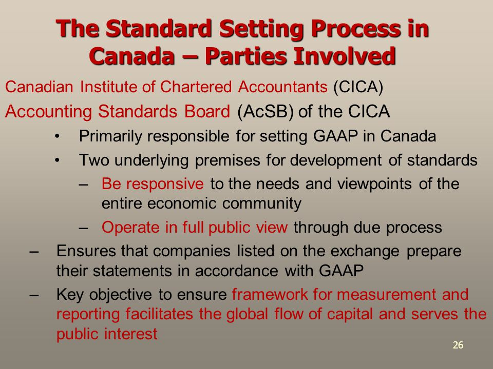 accounting standard setting is a political process What issues do you see with the current standard-setting process for generally accepted accounting principles (gaap) assuming you have complete authority in the matter, how would you propose gaap be developed and enforced.