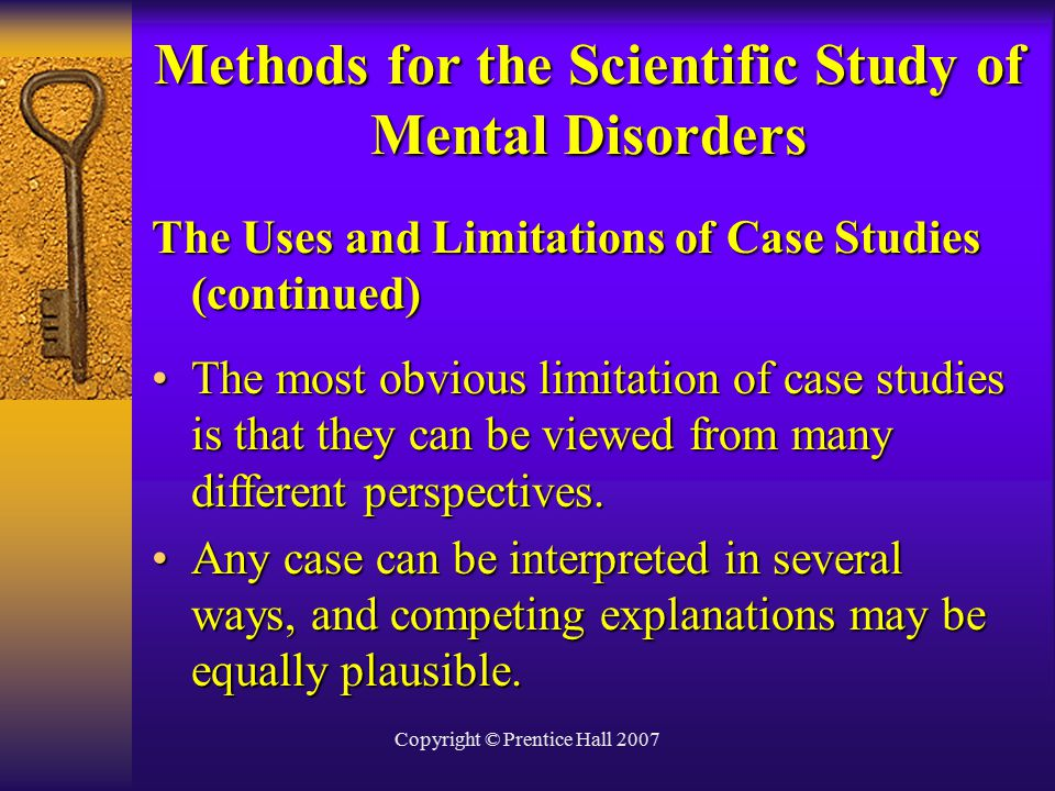 mental disorder case studies Researchers at the national institute of mental health (nimh) conduct a large number of research studies with patients and healthy volunteers the first steps to.