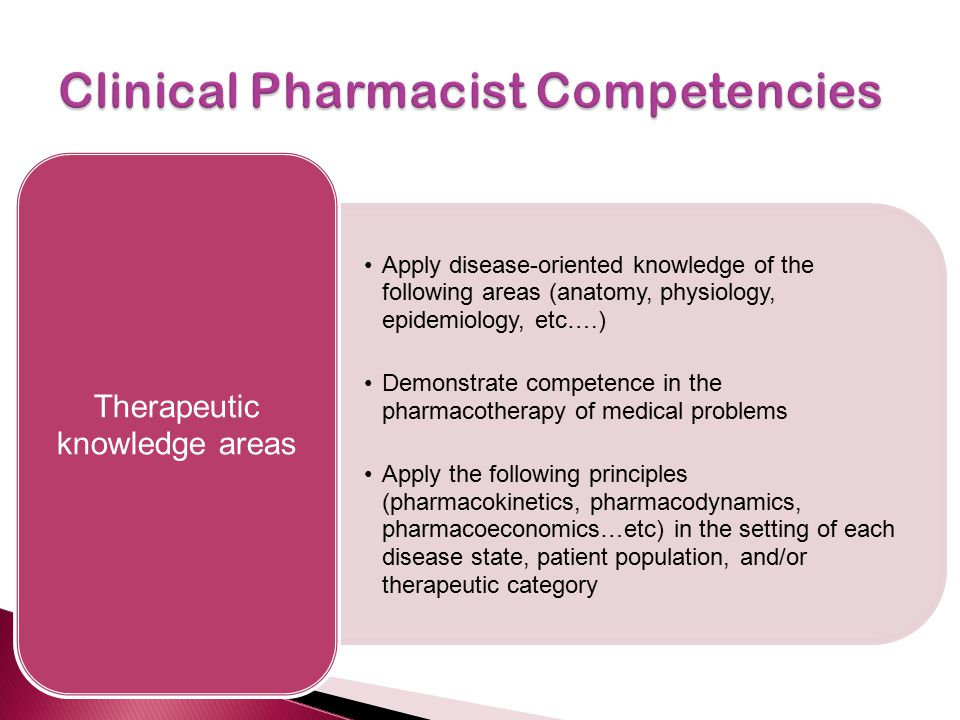 Clinical Pharmacist Competencies