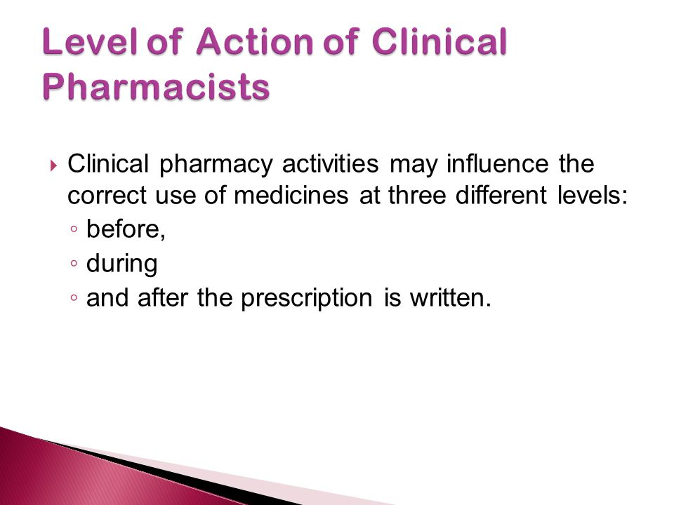 Level of Action of Clinical Pharmacists