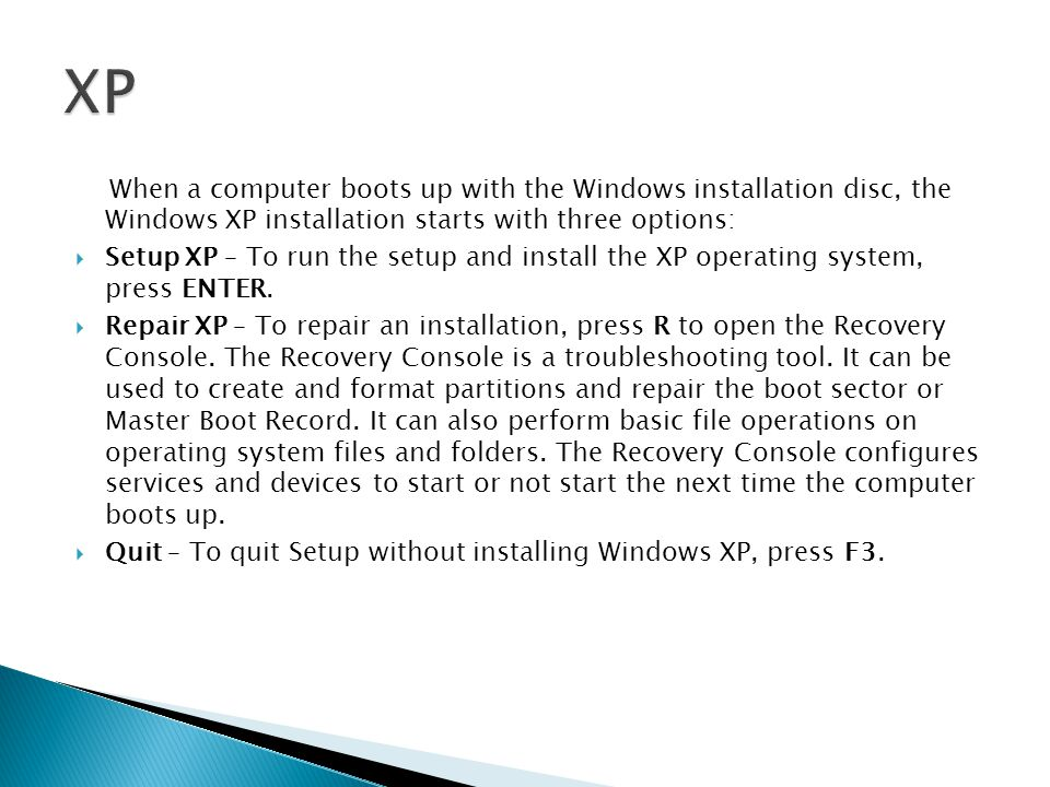 how to install oeprating system when computer wont start