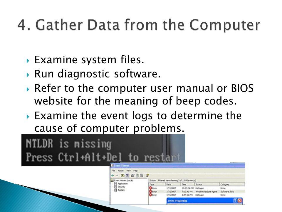bios system event log