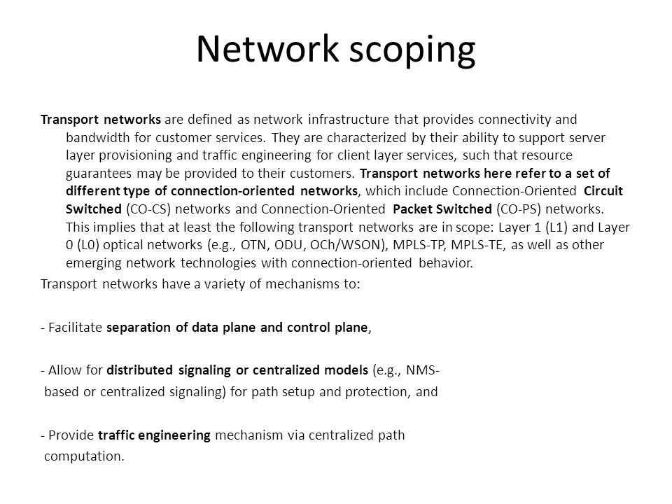 Network scoping