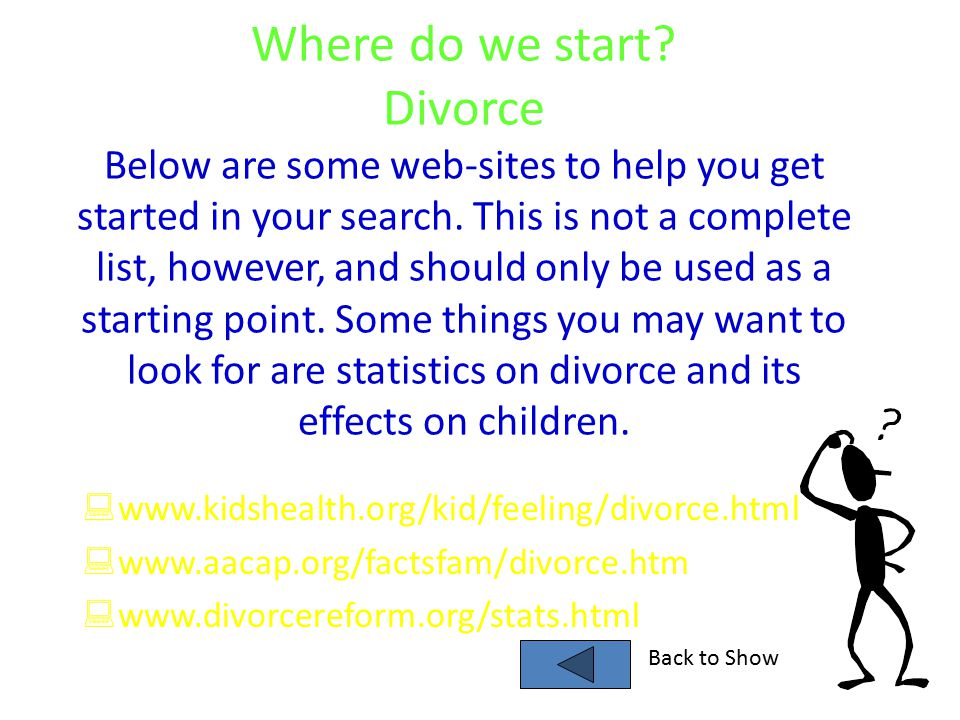 """divorce and its effects on children Divorce can have both physical and mental effects on children """"the health consequences of divorce are also well documented, showing the detrimental effects."""