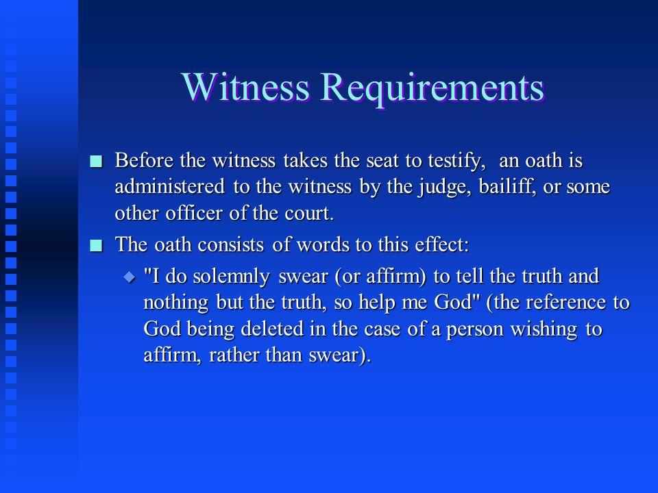 Swearing in Witness - CSRNation