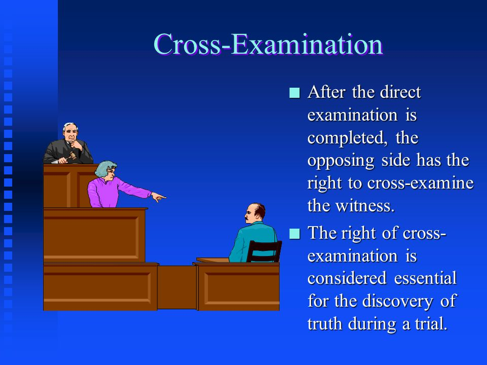 how to answer cross examination questions