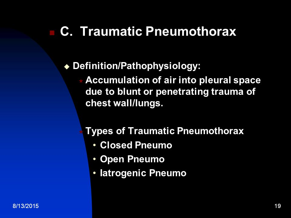 C. Traumatic Pneumothorax