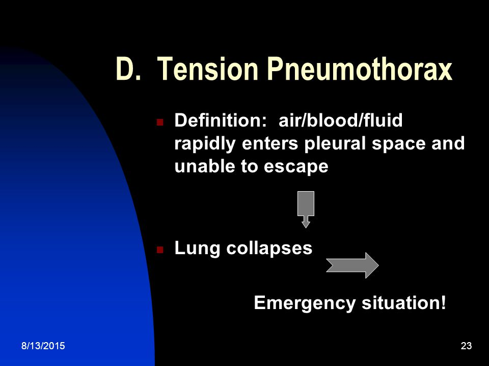 D. Tension Pneumothorax