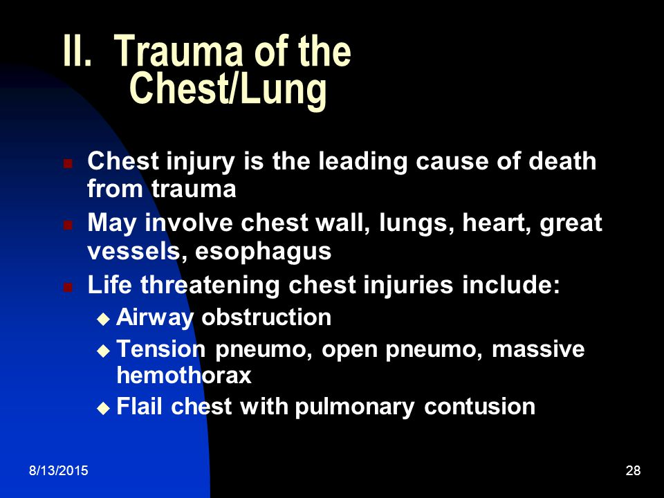 II. Trauma of the Chest/Lung