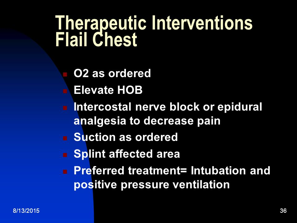 Therapeutic Interventions Flail Chest