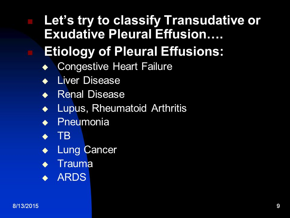 Let's try to classify Transudative or Exudative Pleural Effusion….
