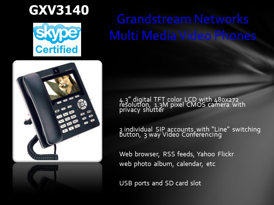 Grandstream Networks Multi Media Video Phones