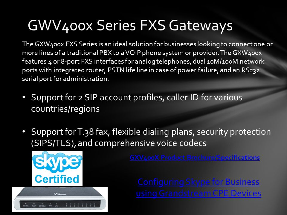 GWV400x Series FXS Gateways
