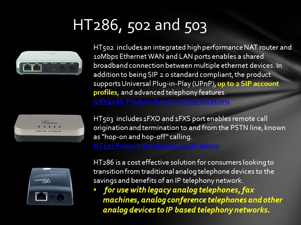 HT286, 502 and 503