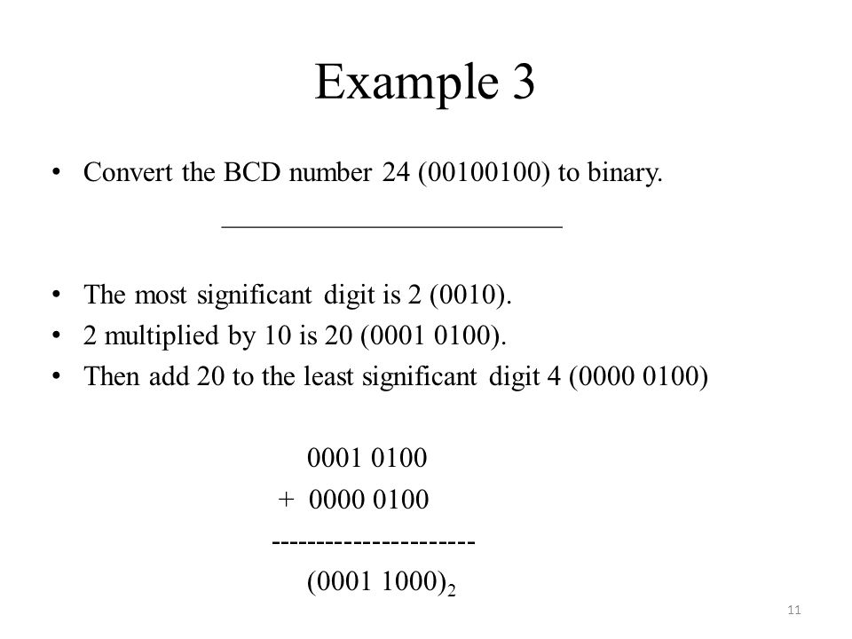 Convert 24 to binary number
