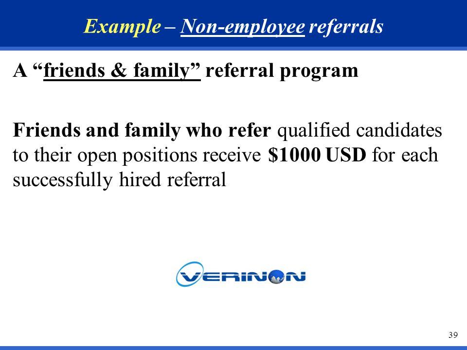 sample employee referral program