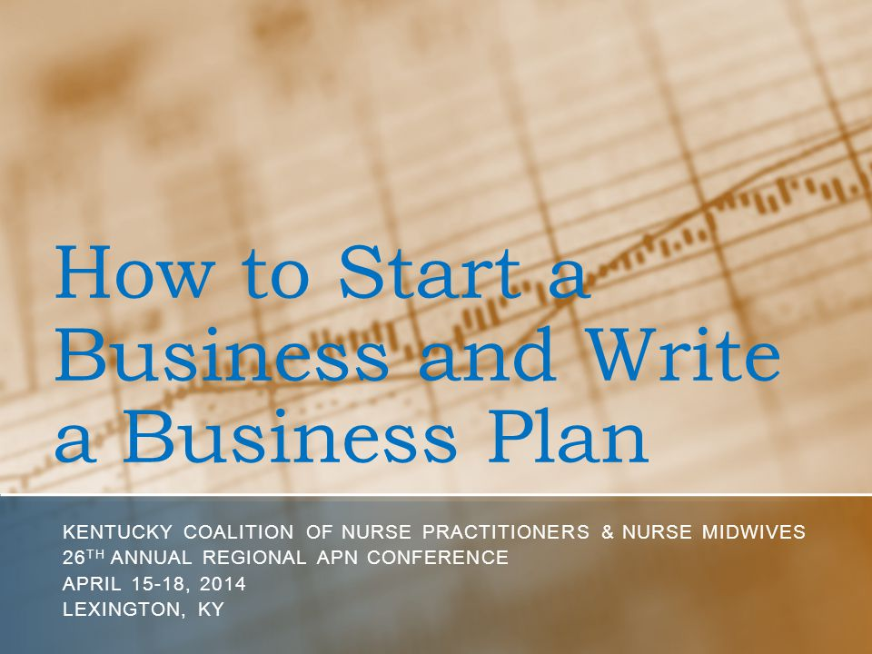 How to start a business plan