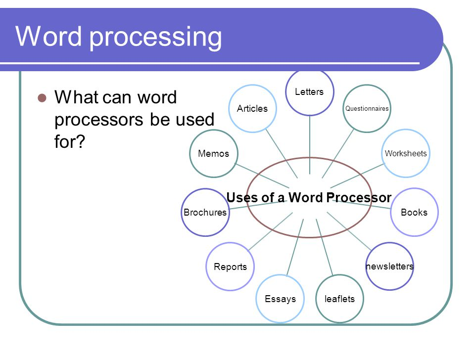 essay on word processing software A reader wants to know how best to use his android tablet for word processing  and printing.