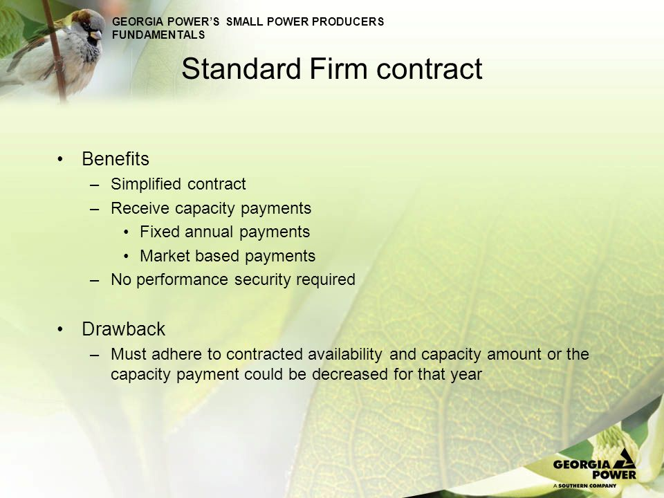 Standard Firm contract