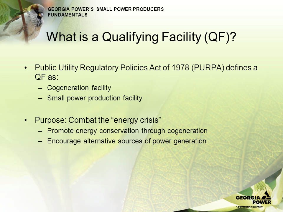 What is a Qualifying Facility (QF)