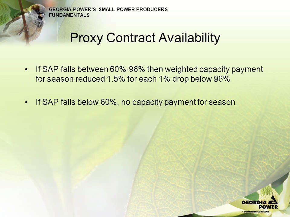 Proxy Contract Availability