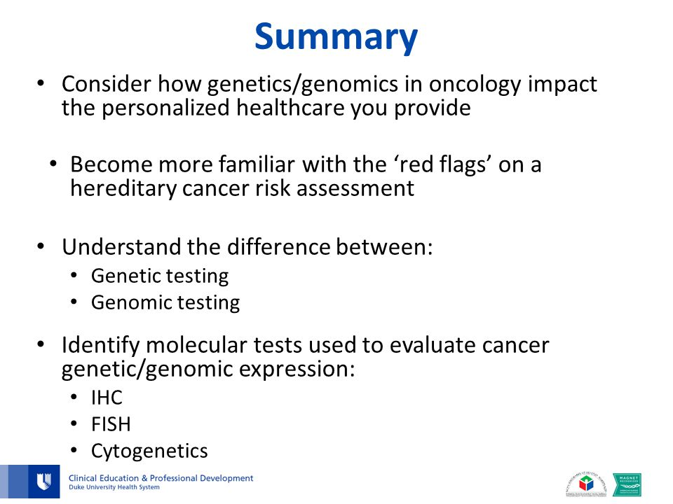 Oncology genetics genomics ppt video online download for Fish genetic testing