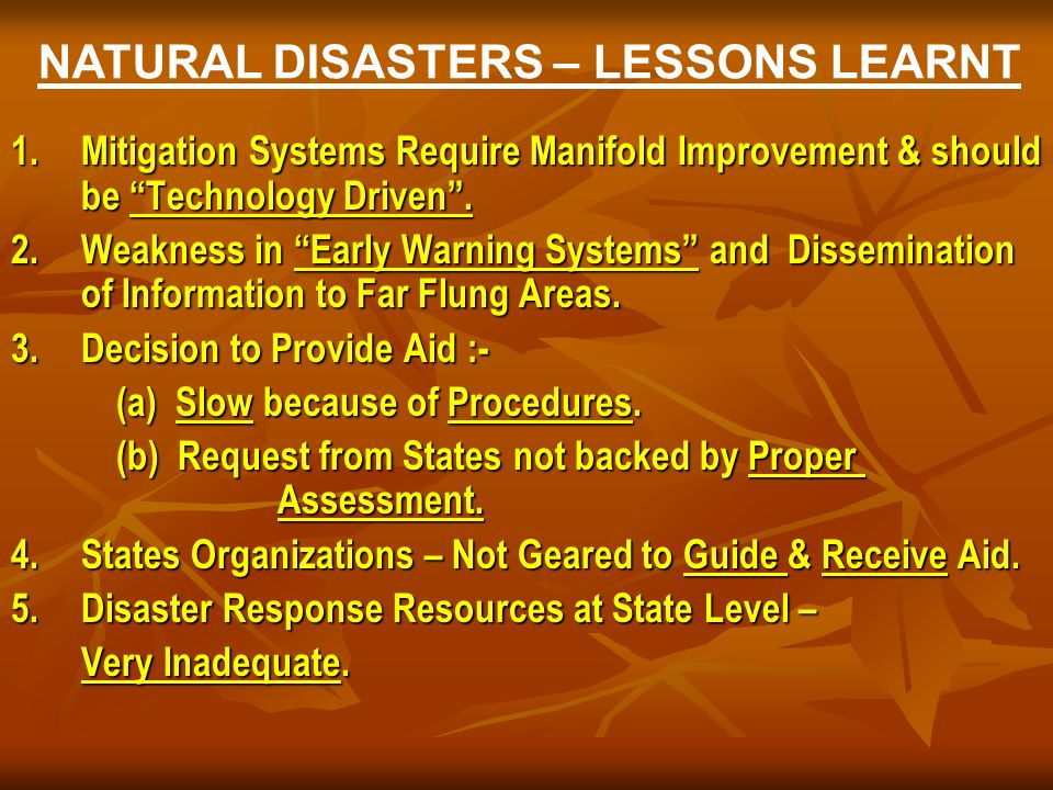 natural disaster early warning systems essay Natural disasters such as volcanic eruptions, earthquakes, tsunamis, floods, fires, droughts, landslides and others occur frequently in most parts of our world therefore, many activities are being carried out to improve especially the early warning (ew) for disasters, but also all other phases of.