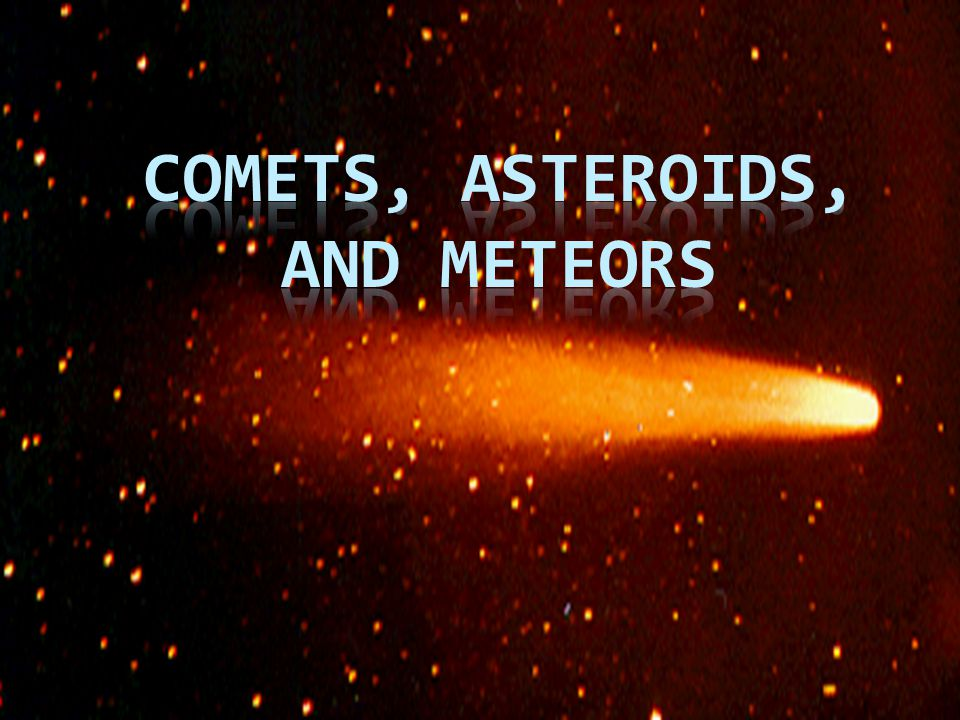 all comets asteroids and meteors together - photo #15